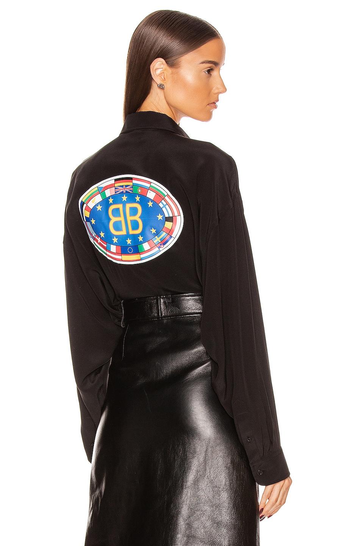 Image 1 of Balenciaga Printed Blouse in Black