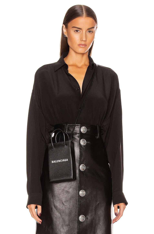 Image 2 of Balenciaga Printed Blouse in Black