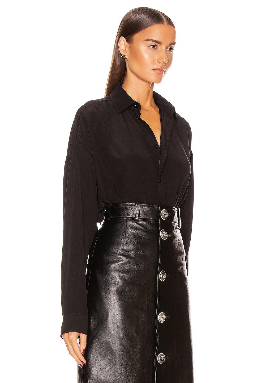 Image 3 of Balenciaga Printed Blouse in Black