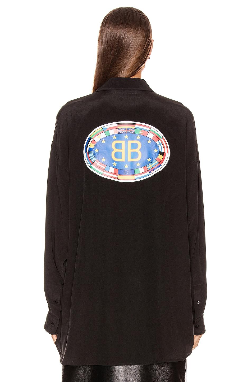 Image 4 of Balenciaga Printed Blouse in Black