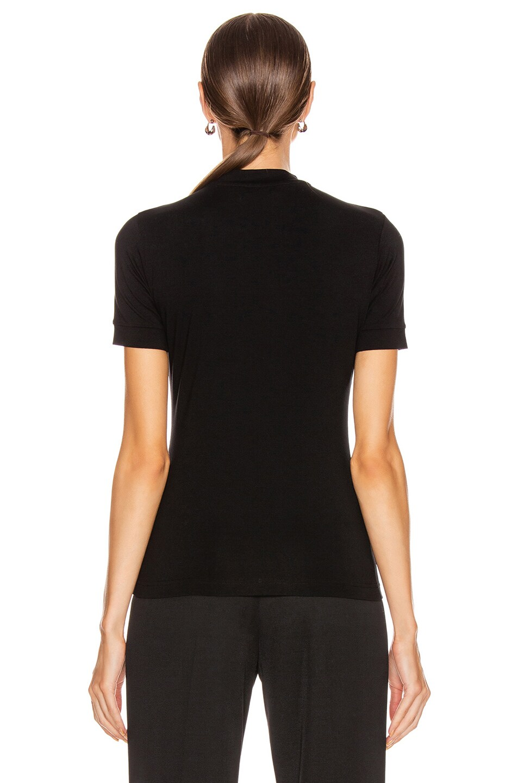 Image 3 of Balenciaga Paris Laurel Fitted T Shirt in Black
