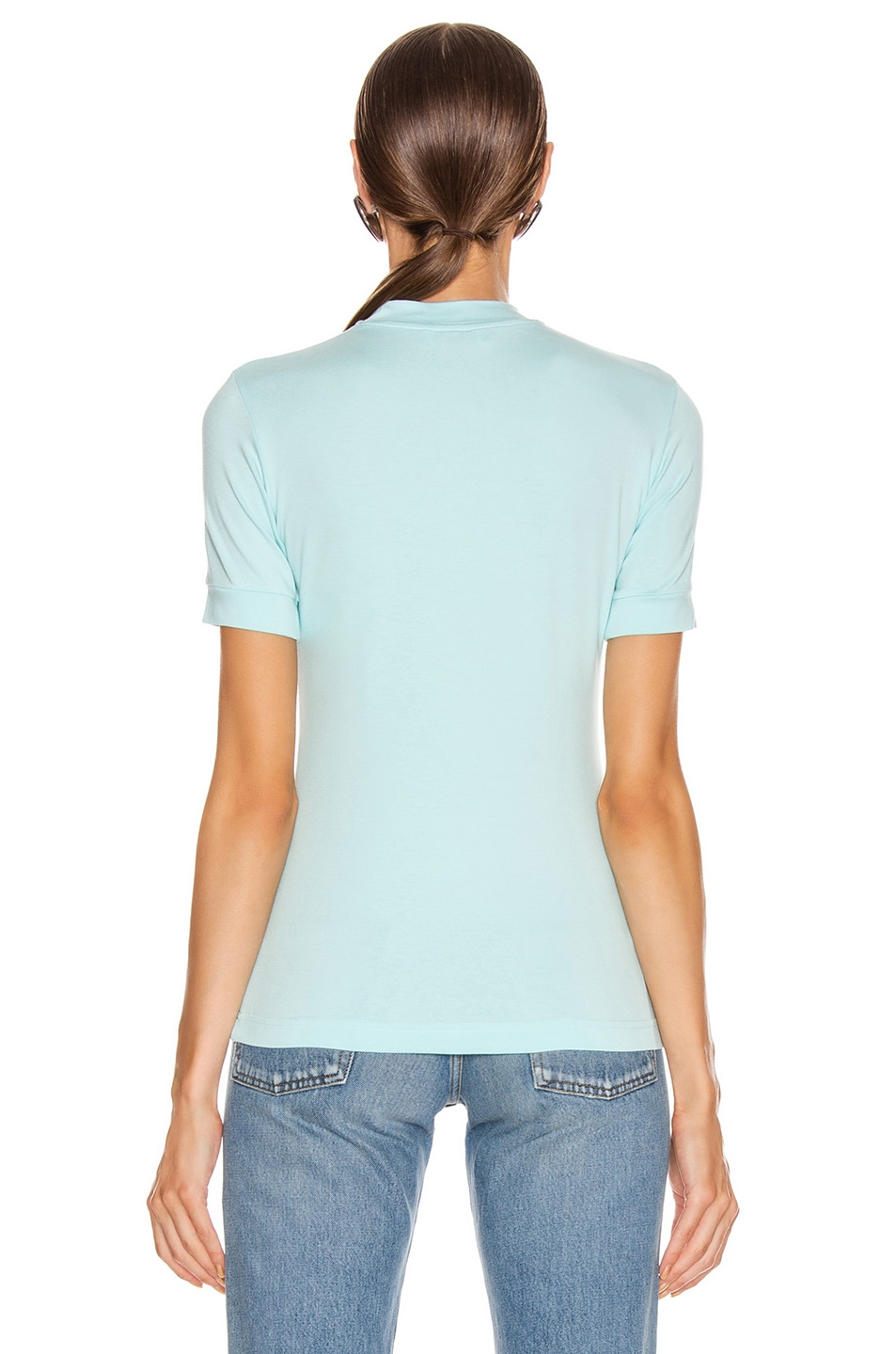 Image 3 of Balenciaga Paris Laurel Fitted T Shirt in Candy Blue