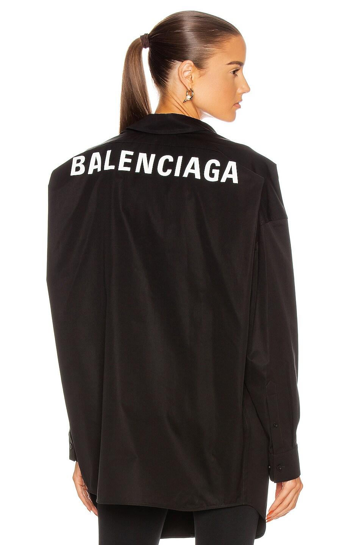 Image 1 of Balenciaga Long Sleeve Swing Shirt in Black