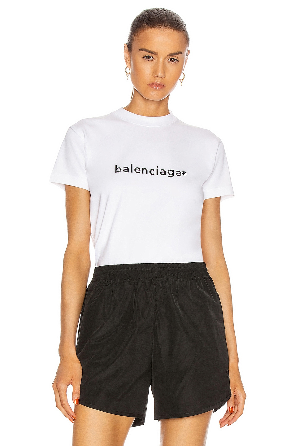 Image 1 of Balenciaga Small Fit T Shirt in White & Black