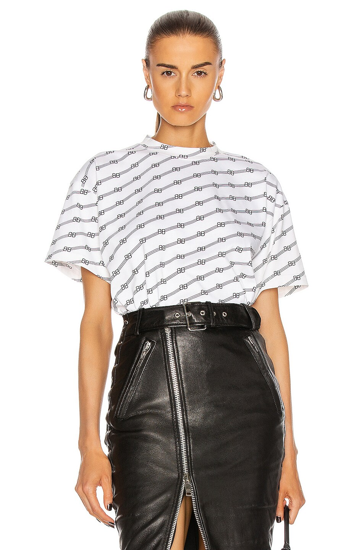 Image 1 of Balenciaga Medium T Shirt in White & Black