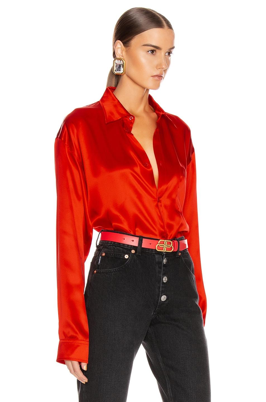 Image 2 of Balenciaga Regular Shirt in Red