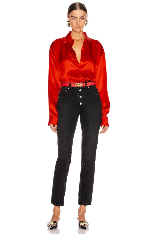 Image 4 of Balenciaga Regular Shirt in Red