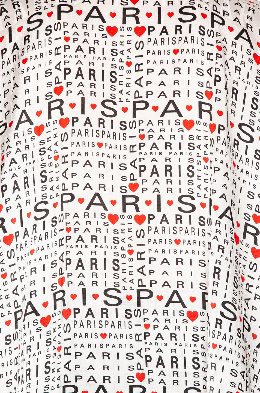 Image 5 of Balenciaga Love Paris Blouse in White & Black