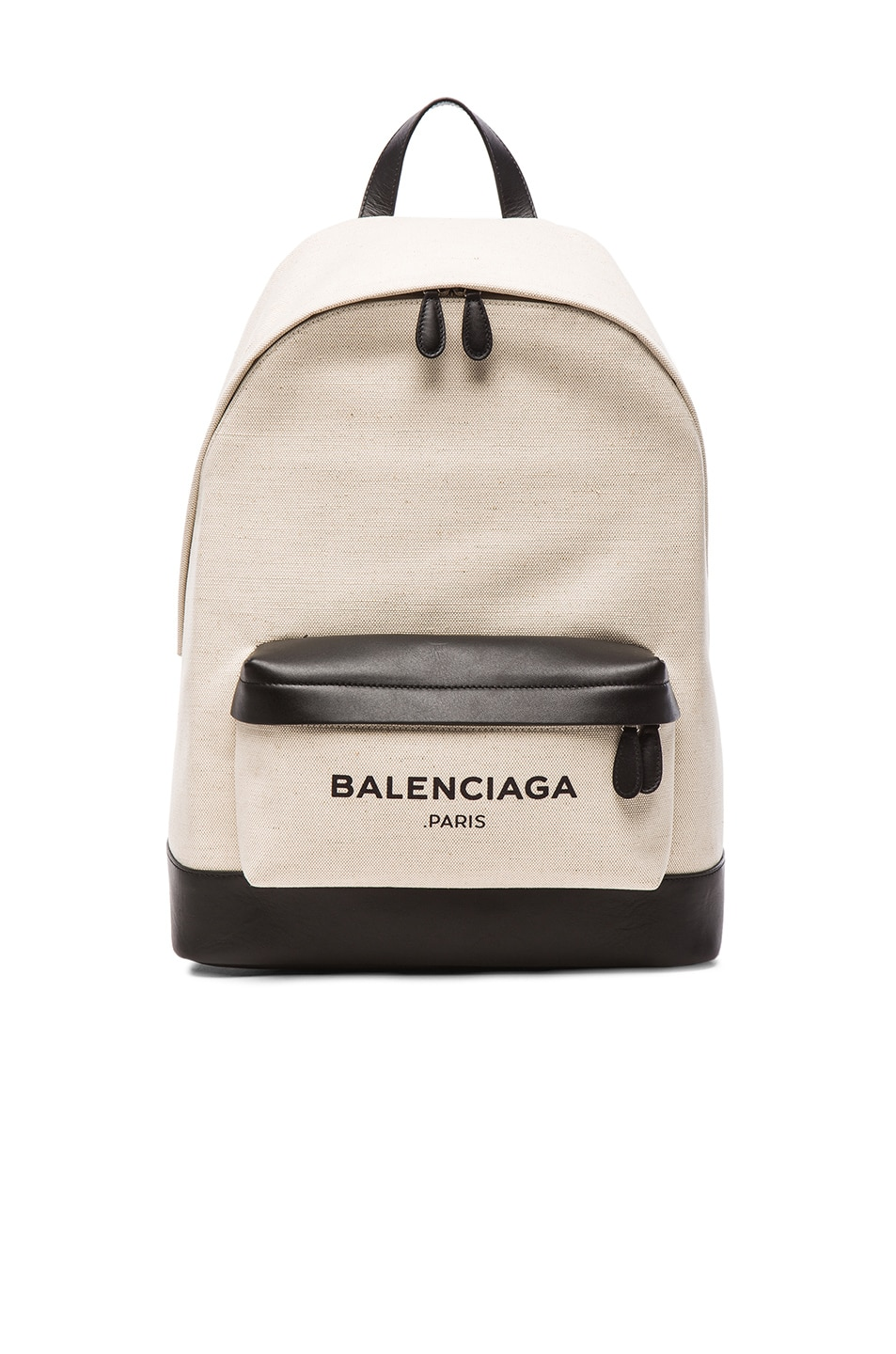 a422f37ba Image 1 of Balenciaga Navy Backpack in Black & Natural