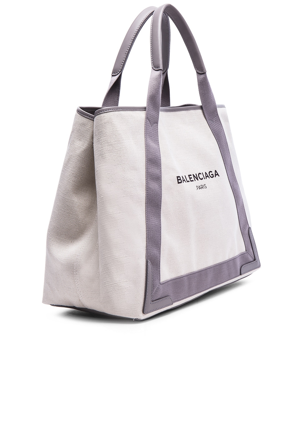 Image 4 of Balenciaga Medium Canvas Tote in Natural & Taupe