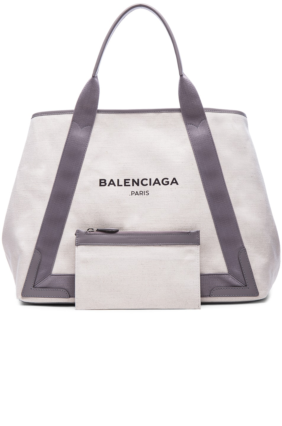 Image 6 of Balenciaga Medium Canvas Tote in Natural & Taupe