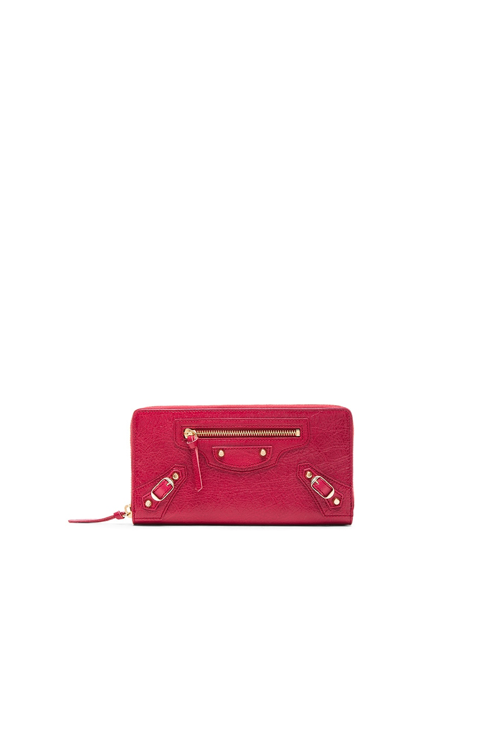 Image 1 of Balenciaga Classic Continental Wallet in Saffron Red