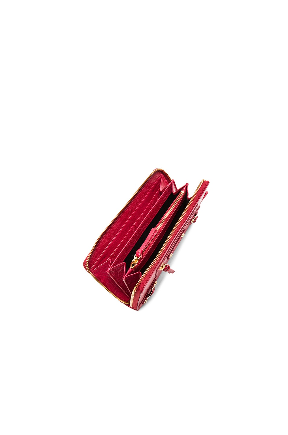 Image 4 of Balenciaga Classic Continental Wallet in Saffron Red