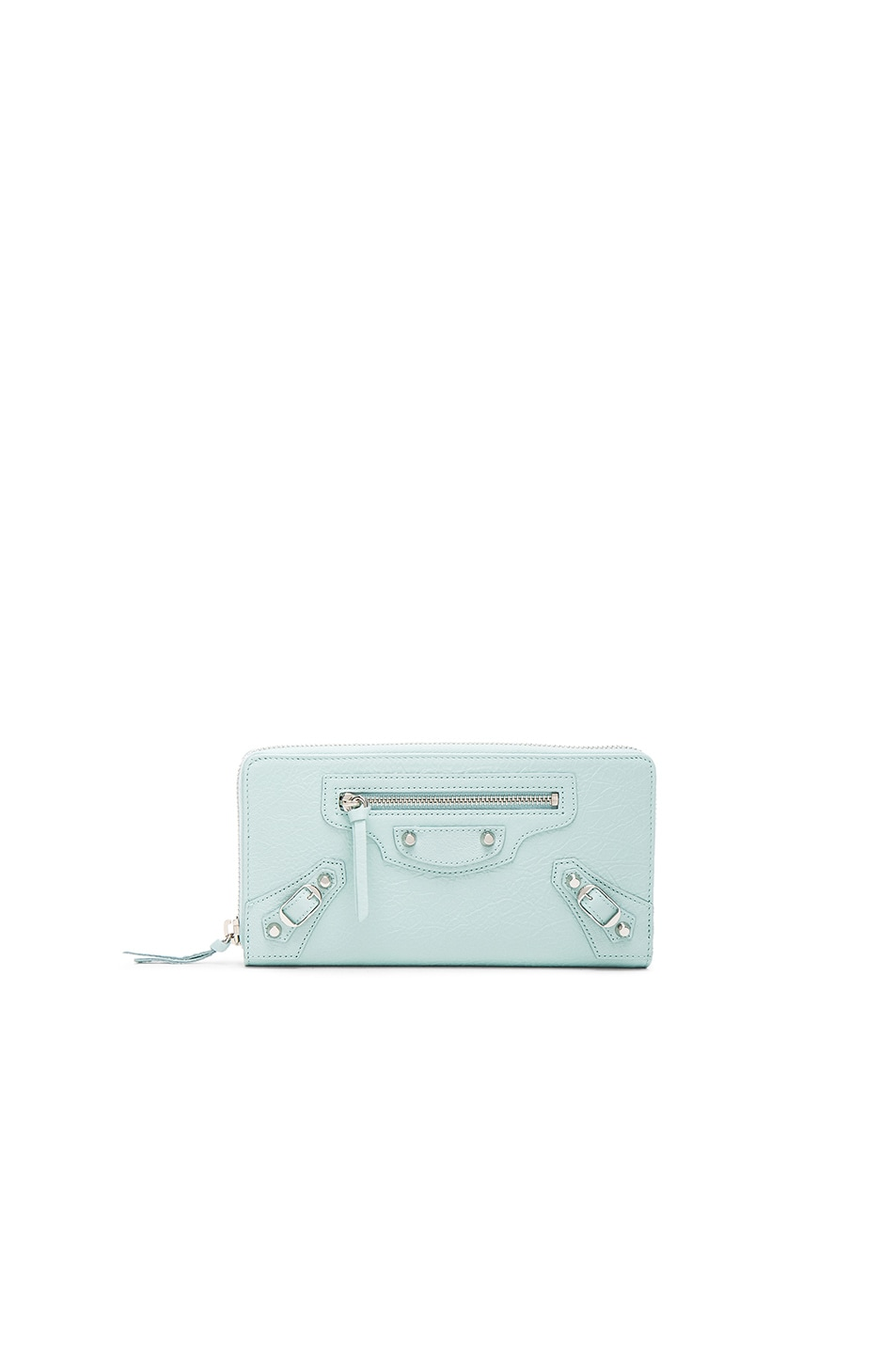 Image 1 of Balenciaga Classic Continental Wallet in Maldives Blue