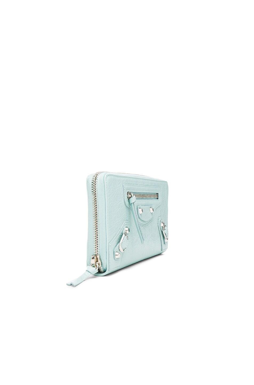 Image 3 of Balenciaga Classic Continental Wallet in Maldives Blue