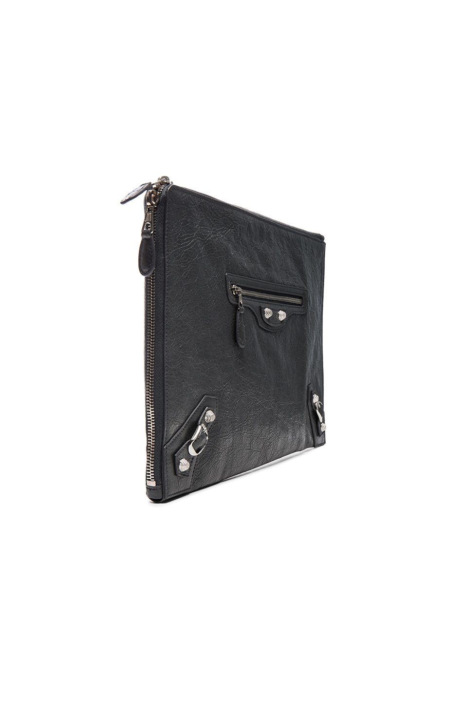 Image 3 of Balenciaga Giant Arena Pouch in Fossil Grey