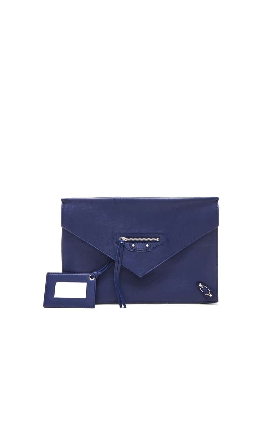 Image 1 of Balenciaga Papier Zip Around Sight Clutch in Officer Blue