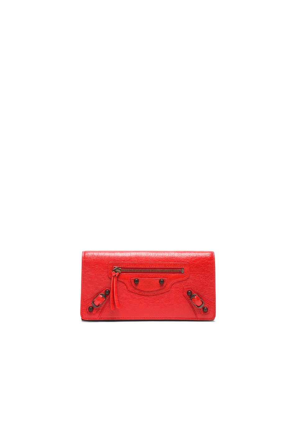 Image 1 of Balenciaga Classic Arena Money Wallet in Poppy Red