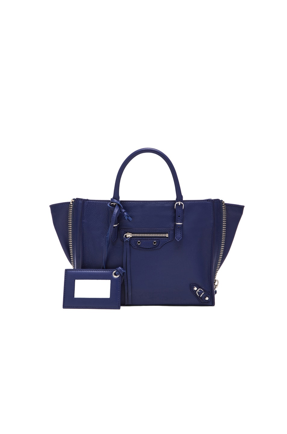 Image 1 of Balenciaga Papier Zip Around Mini in Blue Officer