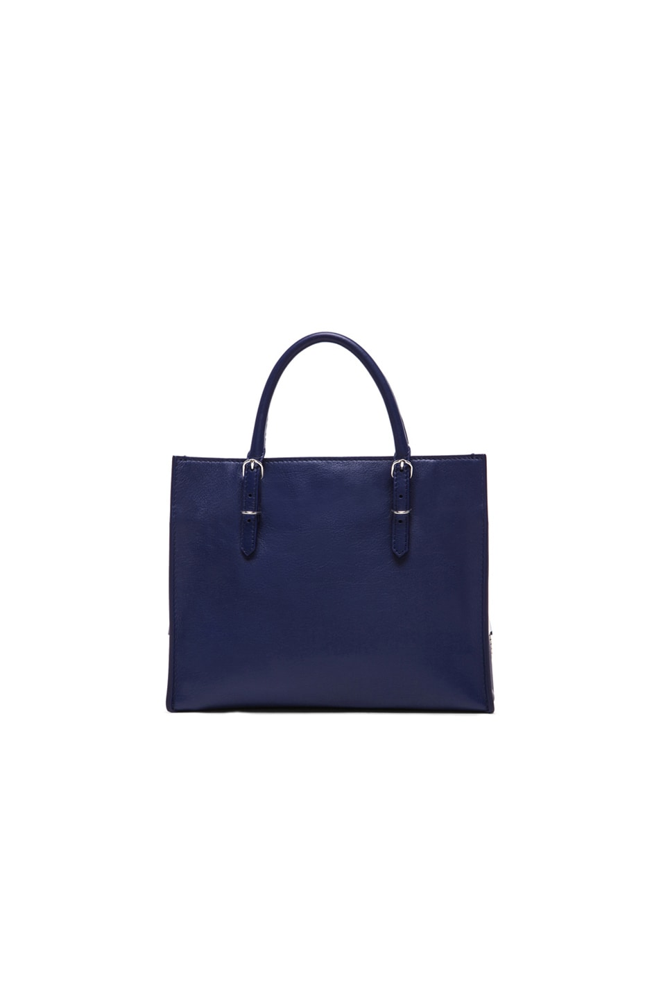 Image 3 of Balenciaga Papier Zip Around Mini in Blue Officer