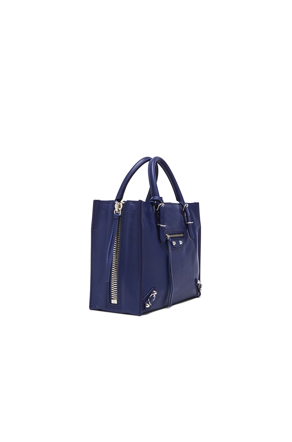 Image 4 of Balenciaga Papier Zip Around Mini in Blue Officer