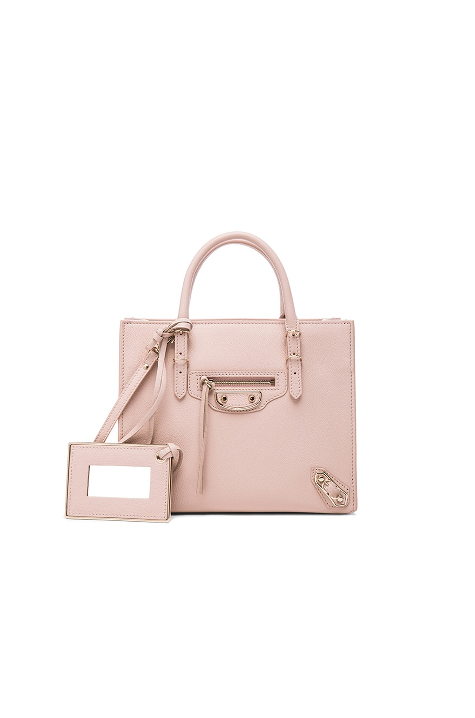 Image 1 of Balenciaga Papier Mini A4 AJ with Pale Gold in Nude
