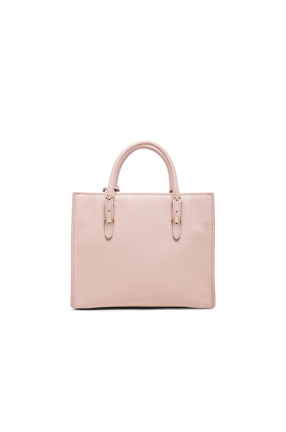 Image 3 of Balenciaga Papier Mini A4 AJ with Pale Gold in Nude