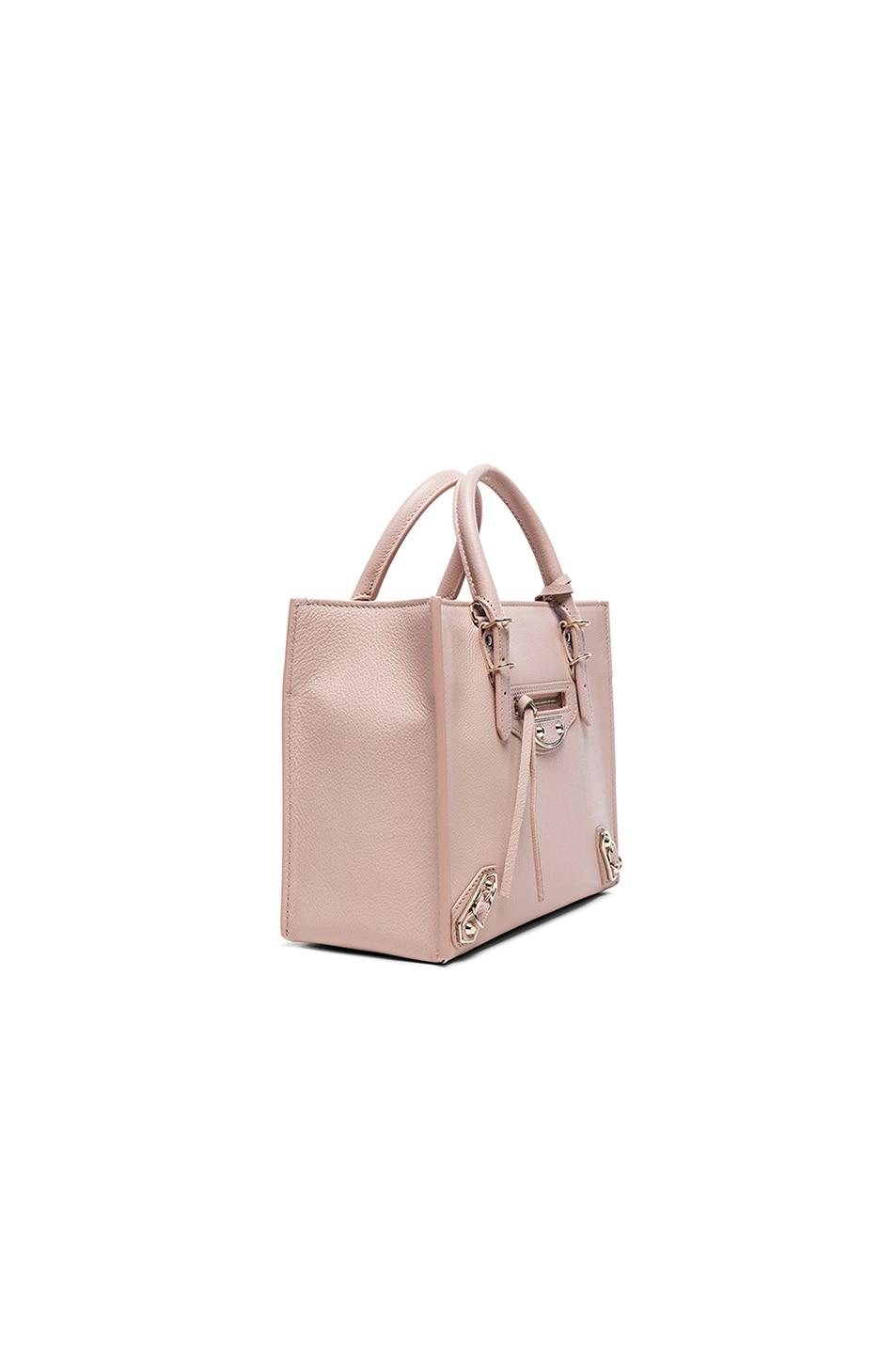 Image 4 of Balenciaga Papier Mini A4 AJ with Pale Gold in Nude