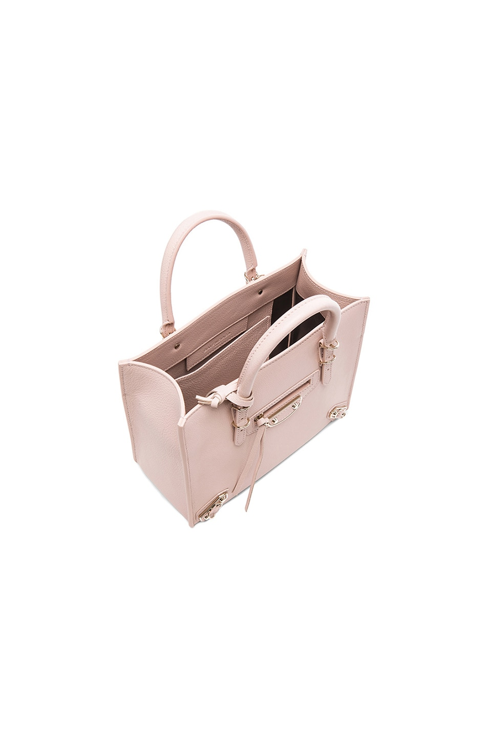 Image 5 of Balenciaga Papier Mini A4 AJ with Pale Gold in Nude