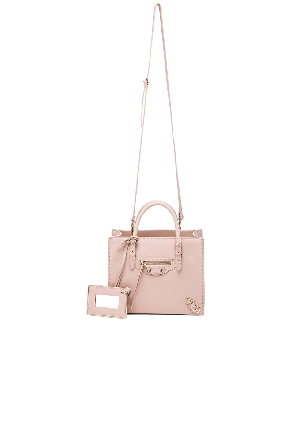 Image 6 of Balenciaga Papier Mini A4 AJ with Pale Gold in Nude