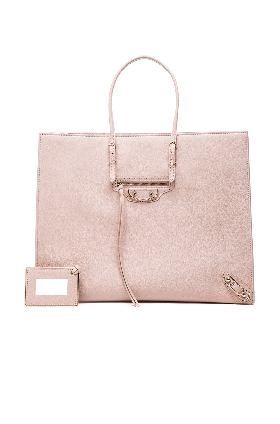 Image 1 of Balenciaga Papier A4 Tote with Pale Gold in Nude