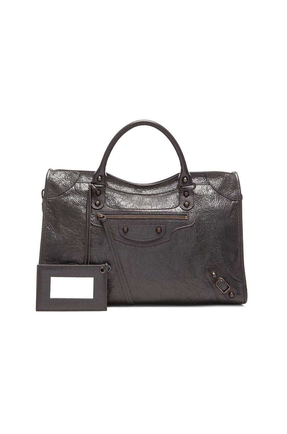 089e25a08d3d Image 1 of Balenciaga Classic City Bag with Traditional Studs in Anthracite