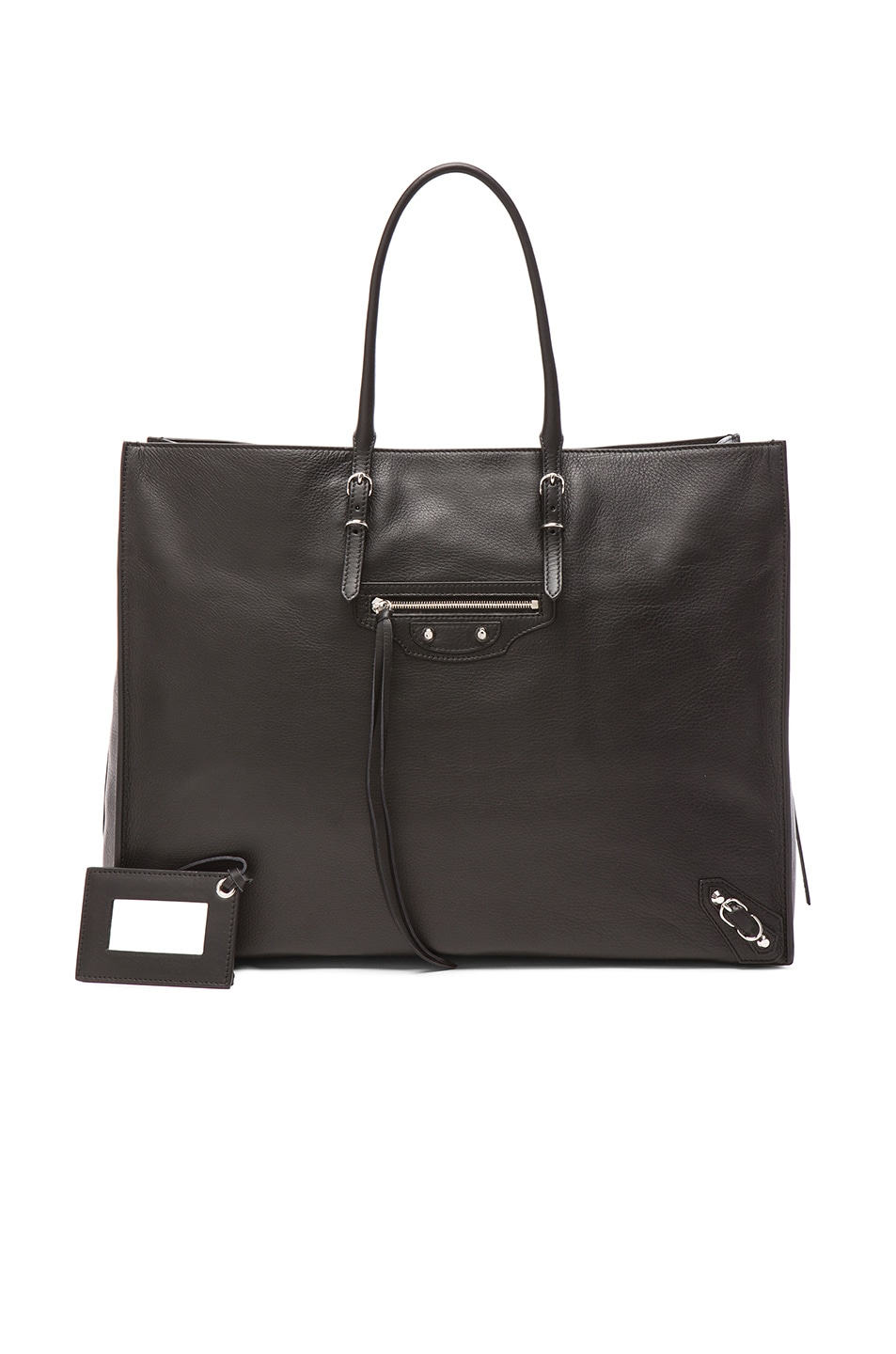 Image 1 of Balenciaga Papier Zip Around A4 Tote in Black