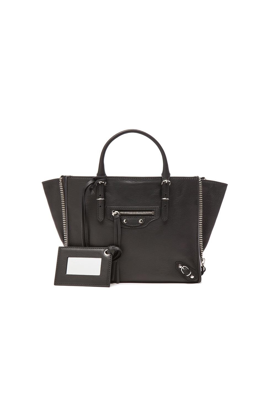 Image 1 of Balenciaga Papier Zip Around Mini in Black