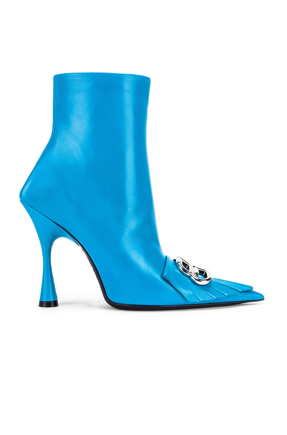 Image 2 of Balenciaga Fringe Knife Booties in Turquoise & Silver