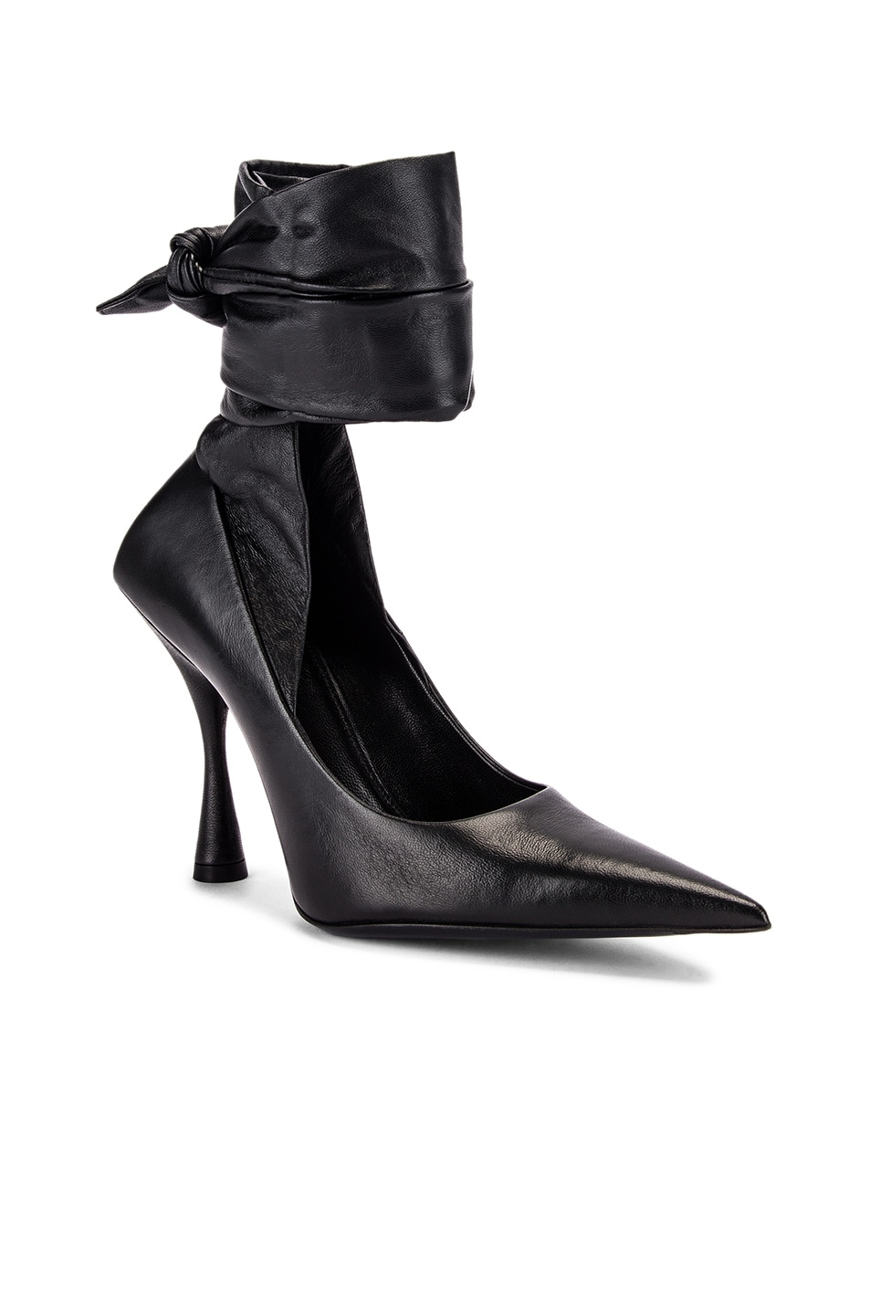 Image 2 of Balenciaga Dance Knife Wrap Around Pumps in Black