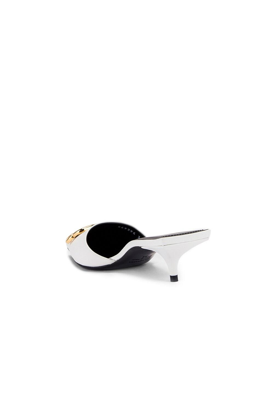 Image 4 of Balenciaga Square Knife BB Kitten Heels in White & Gold