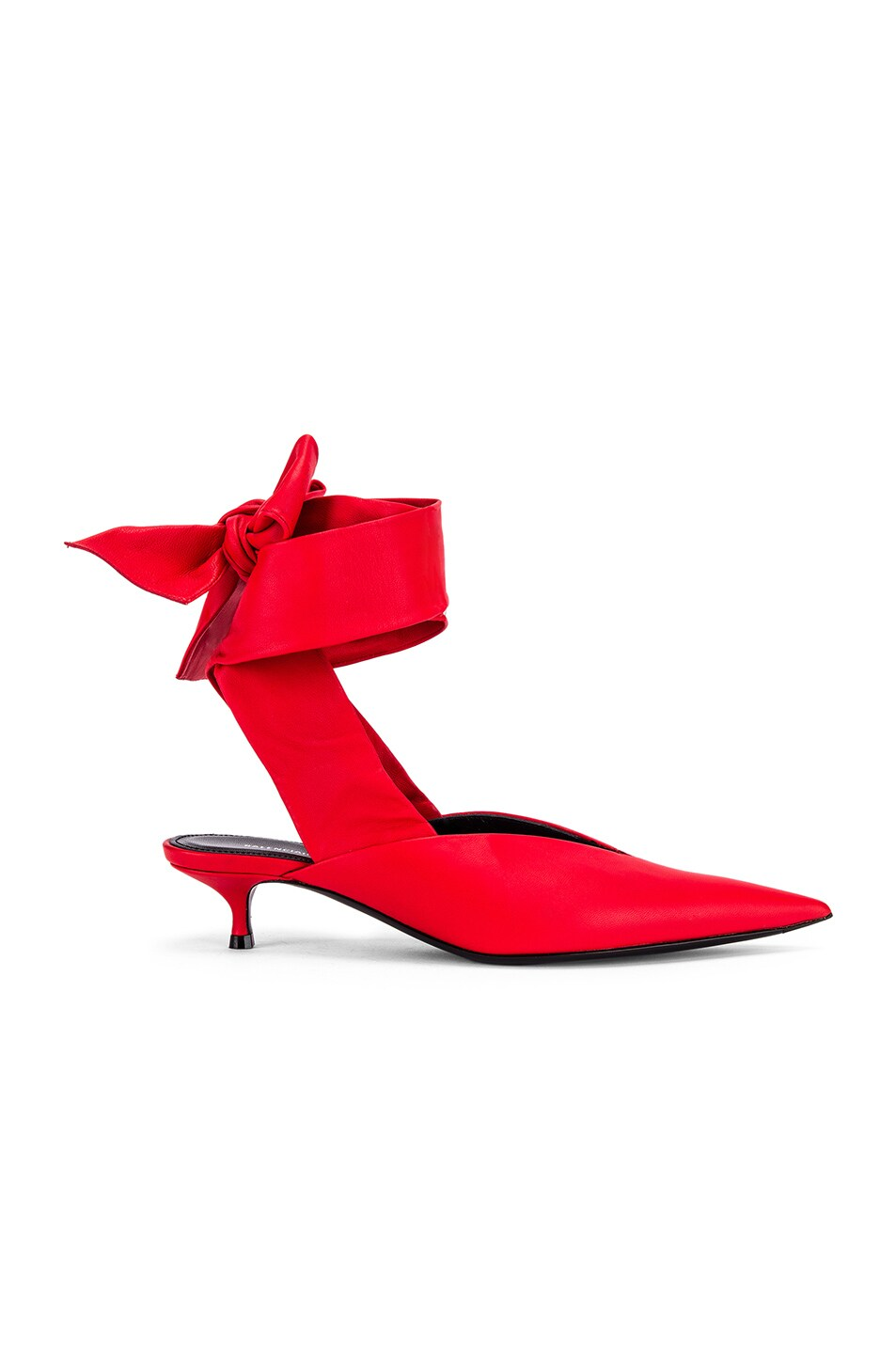 Image 1 of Balenciaga Dance Knife Wrap Around Kitten Heels in Red