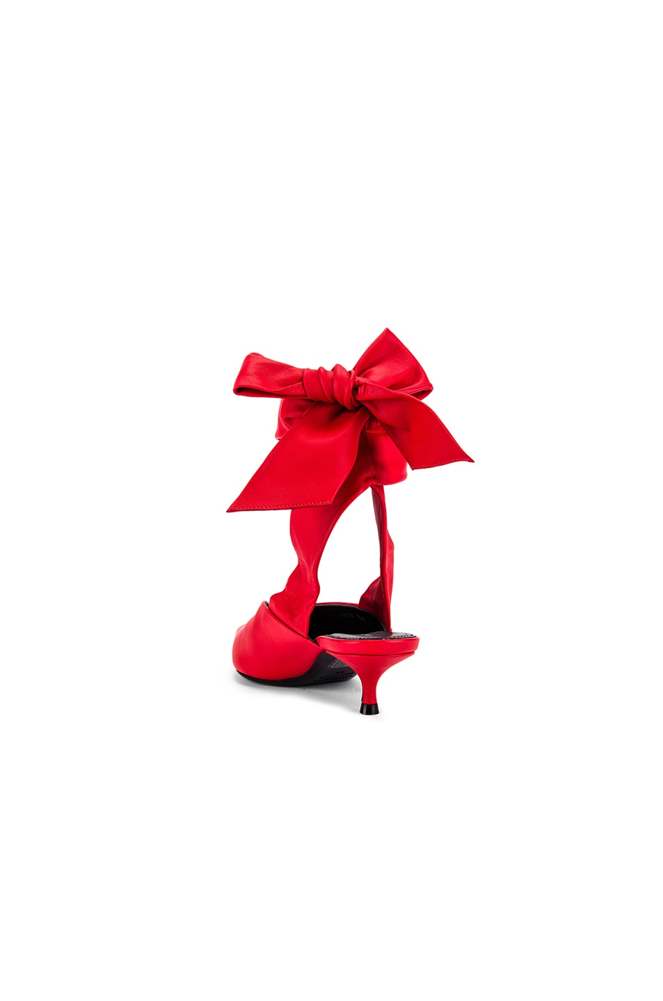 Image 3 of Balenciaga Dance Knife Wrap Around Kitten Heels in Red