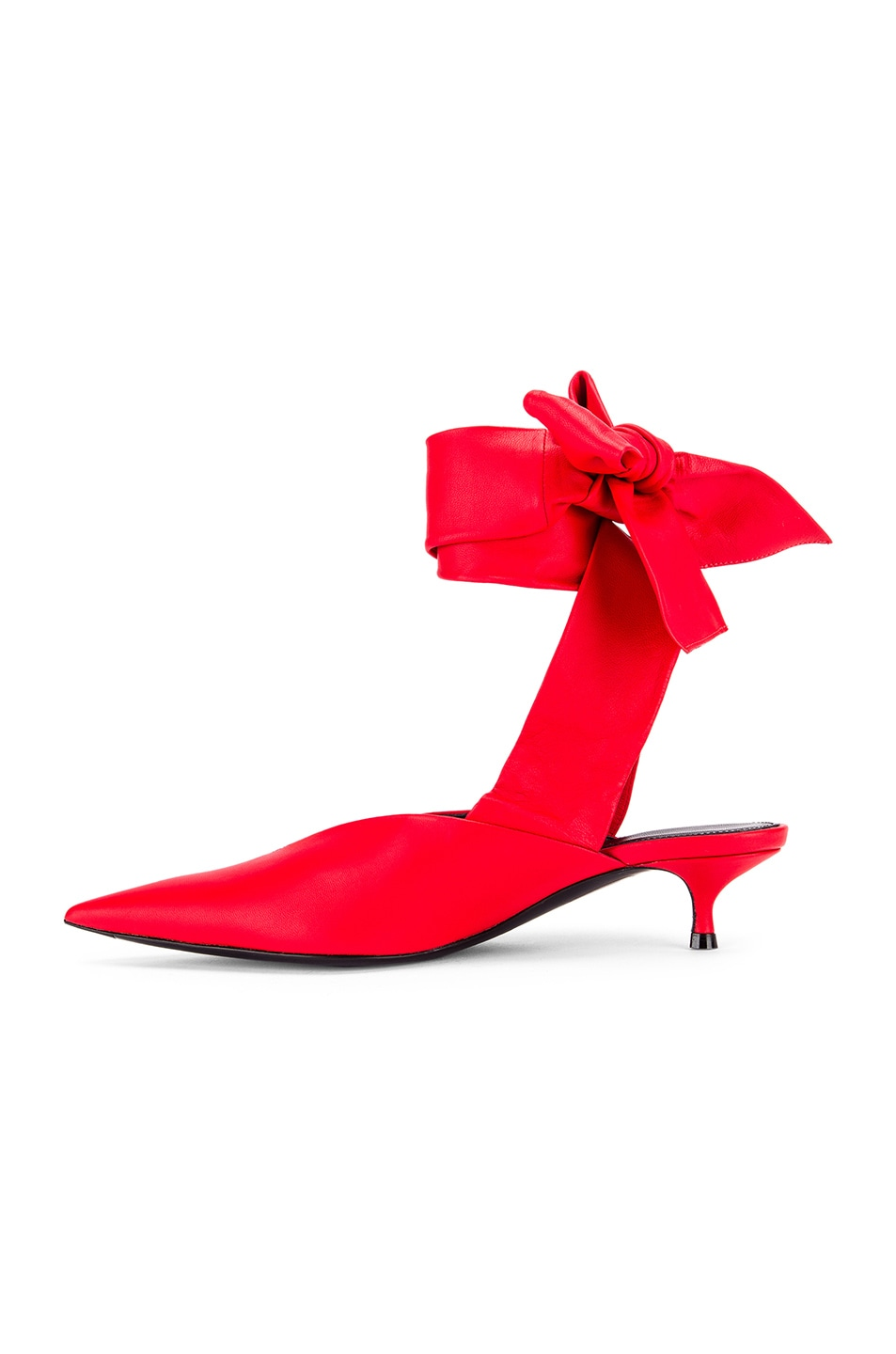 Image 5 of Balenciaga Dance Knife Wrap Around Kitten Heels in Red