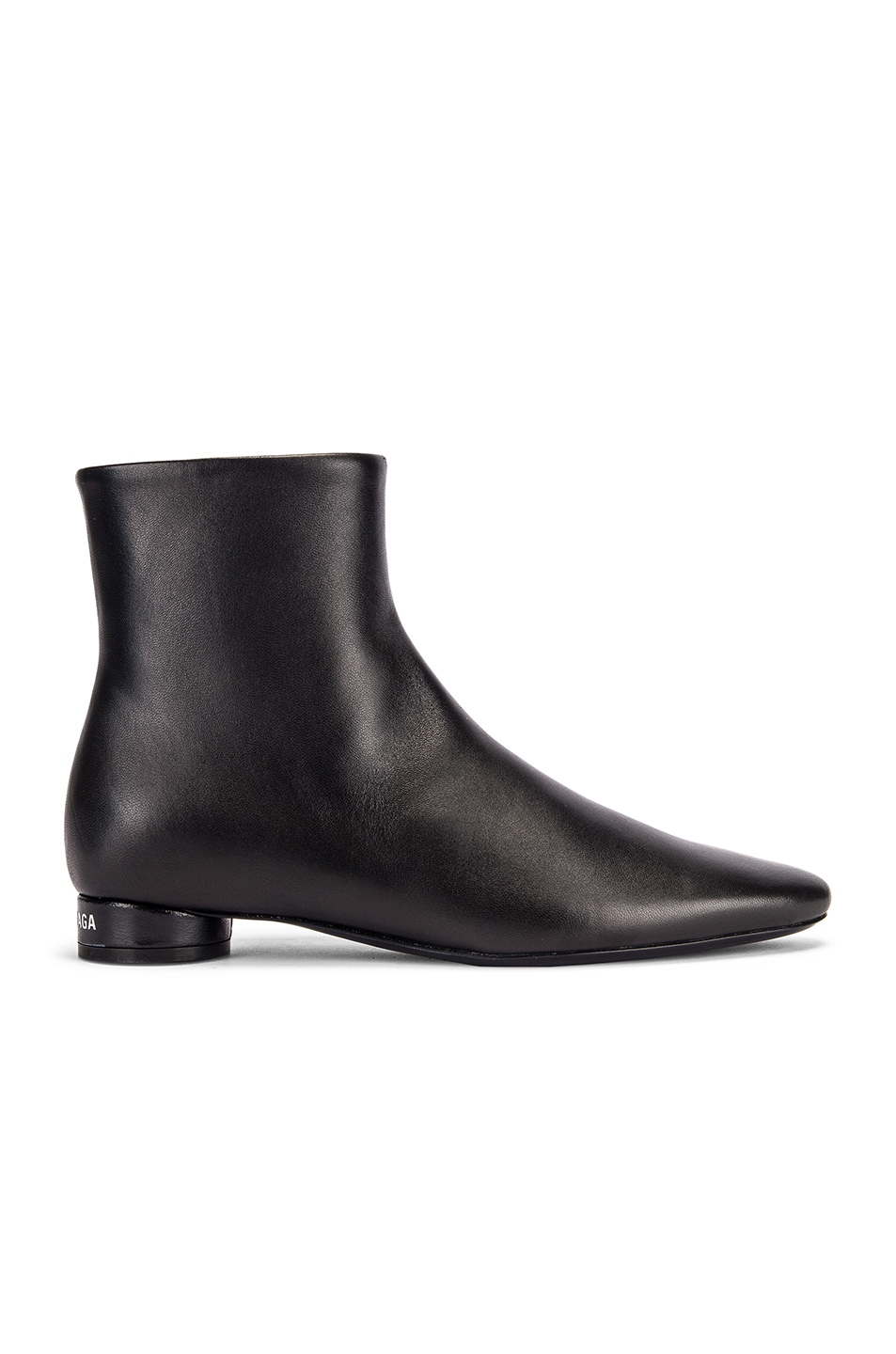 Image 1 of Balenciaga Oval Flat Booties in Black & White