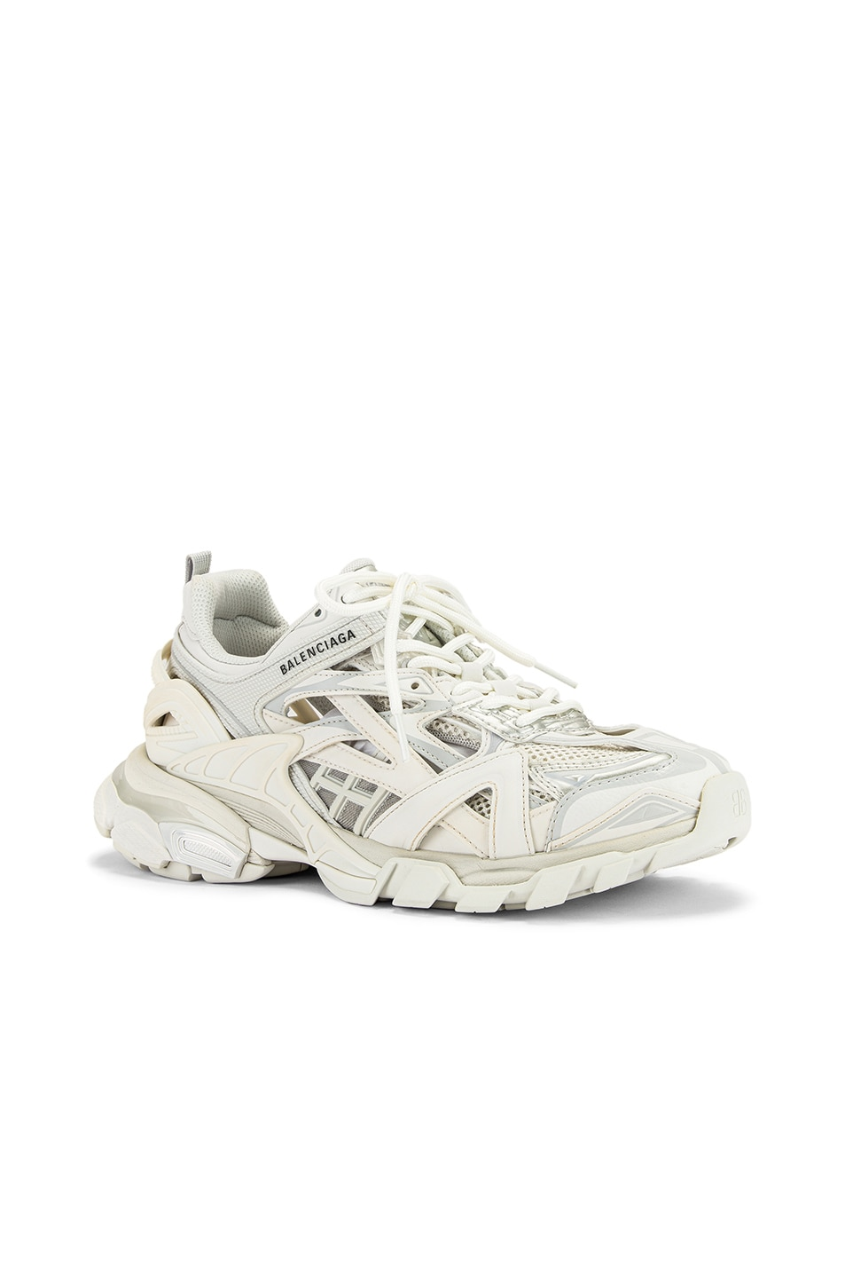 Image 2 of Balenciaga Track Open Sneakers in White