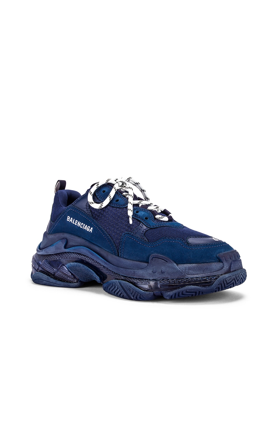 Image 2 of Balenciaga Triple S Sneakers in Navy