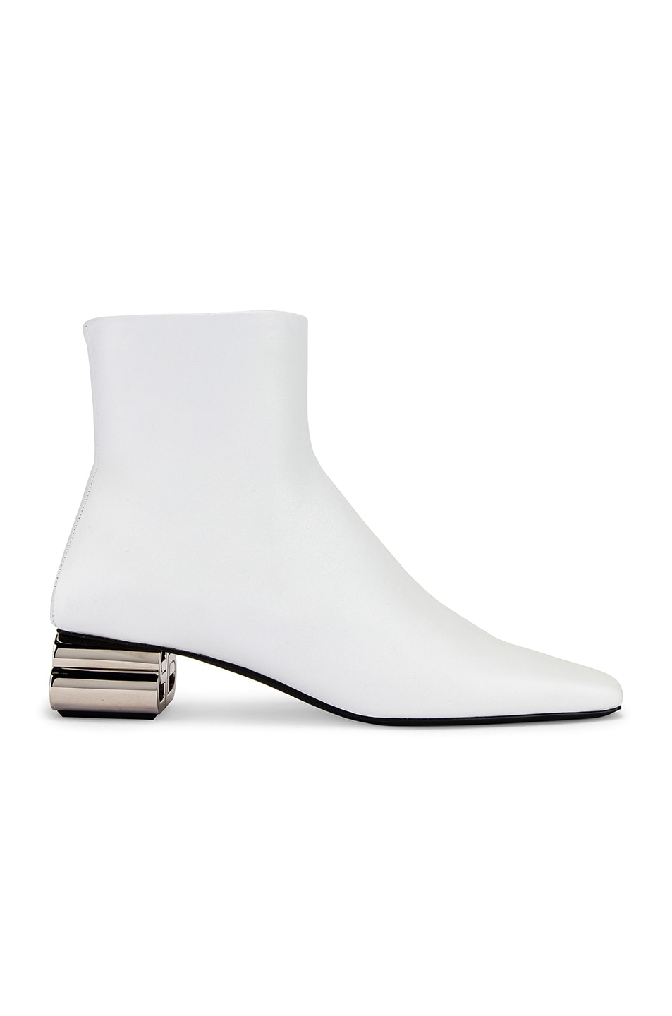 Image 1 of Balenciaga Typo Booties in White & Silver