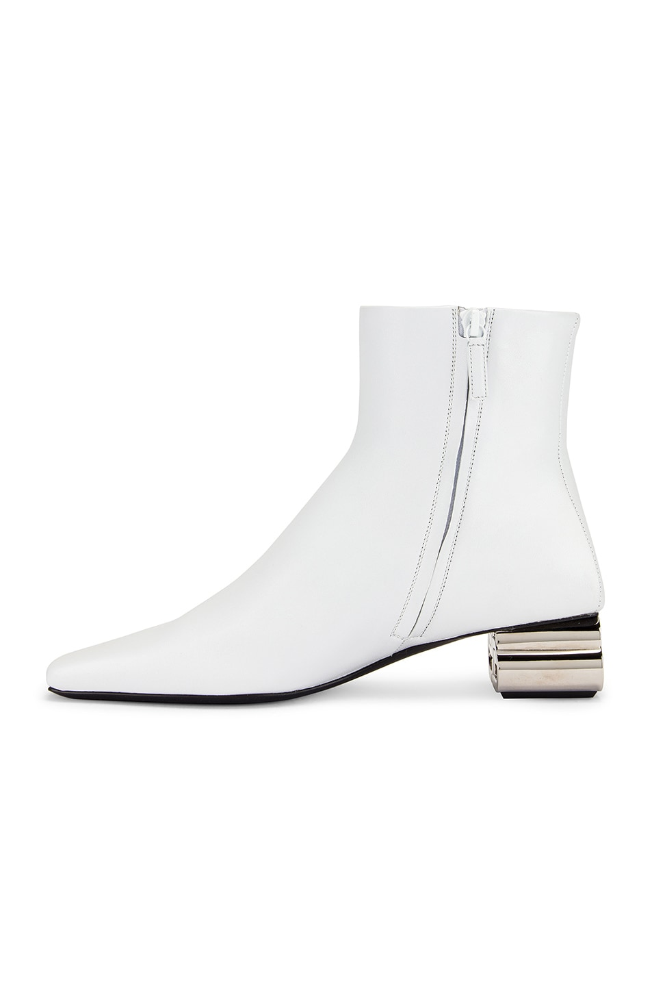 Image 5 of Balenciaga Typo Booties in White & Silver