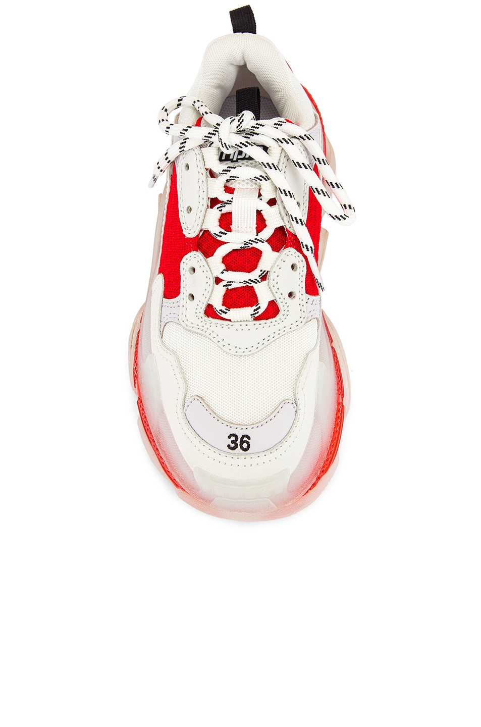 Image 4 of Balenciaga Triple S Sneakers in White & Red