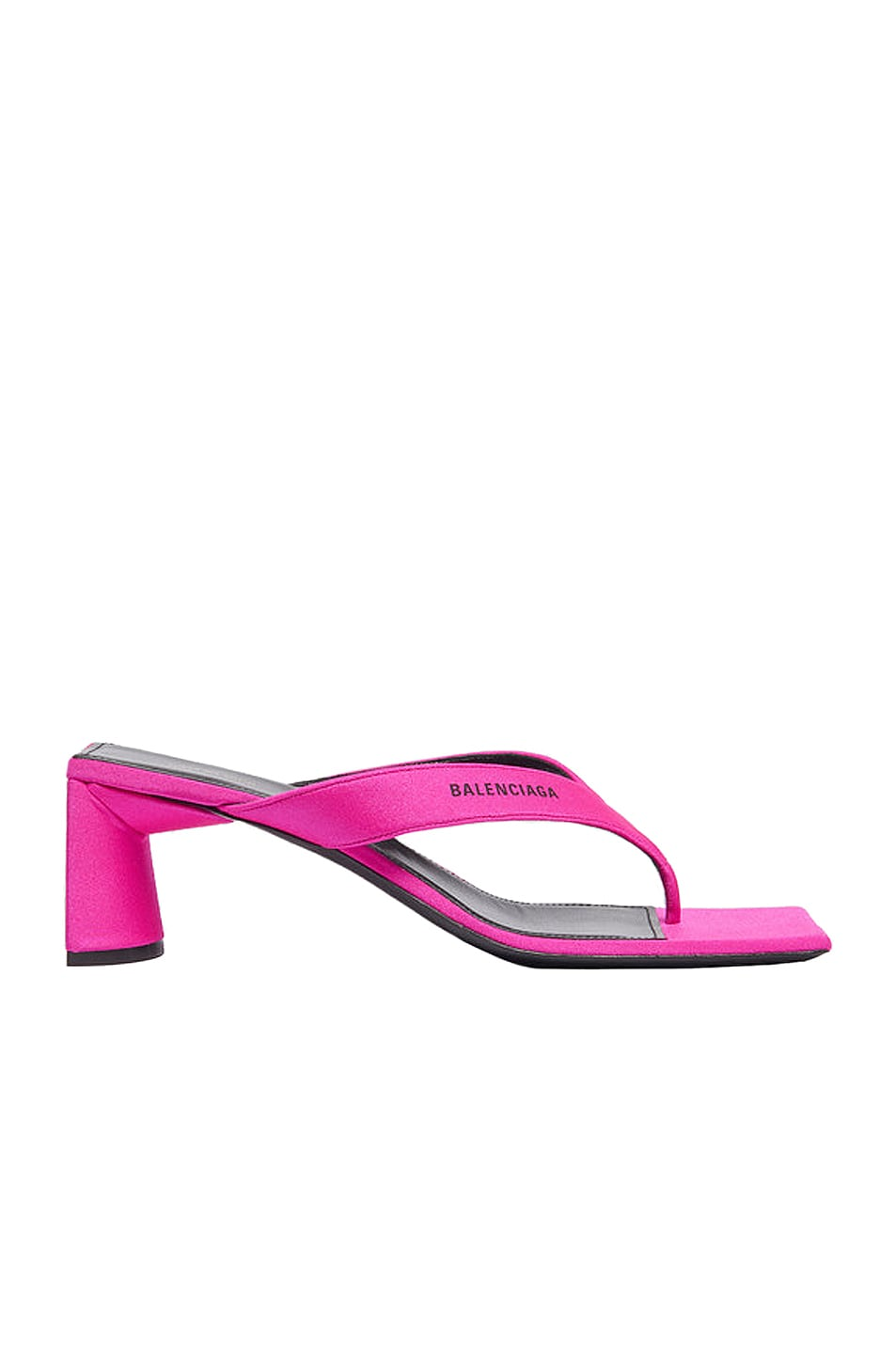 Image 1 of Balenciaga Logo Double Square Sandals in Lipstick Pink & Black