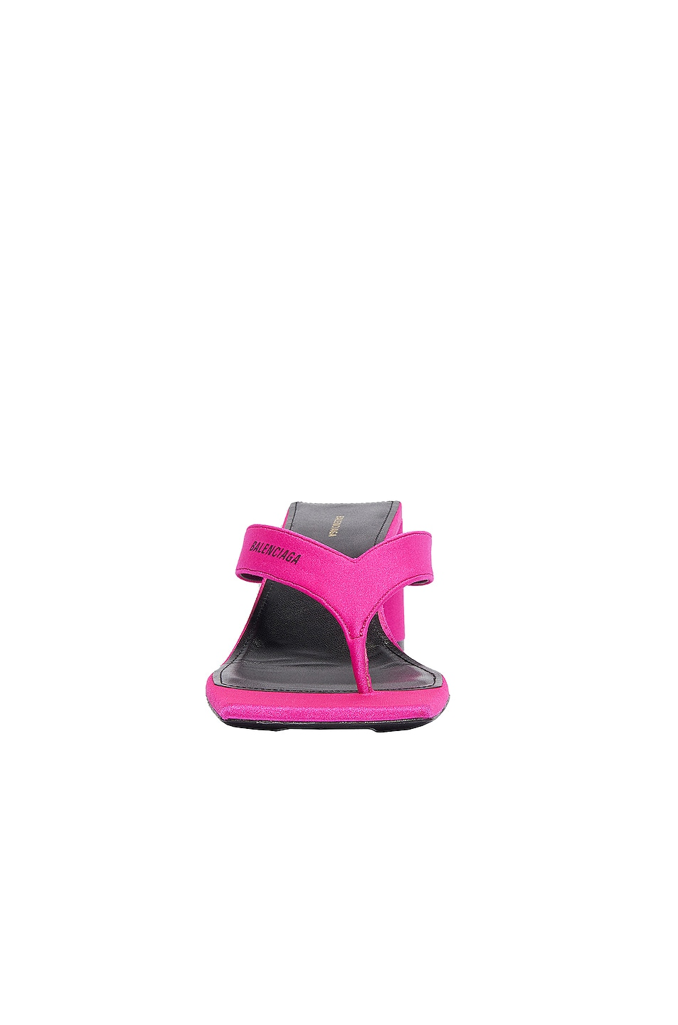 Image 2 of Balenciaga Logo Double Square Sandals in Lipstick Pink & Black