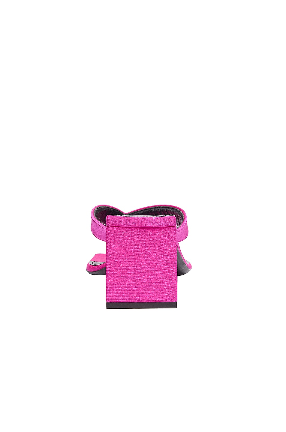 Image 3 of Balenciaga Logo Double Square Sandals in Lipstick Pink & Black