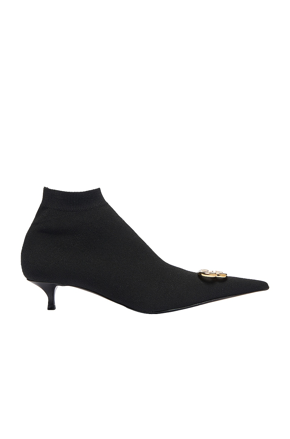 Image 1 of Balenciaga BB Knife Knit Booties in Black & Gold